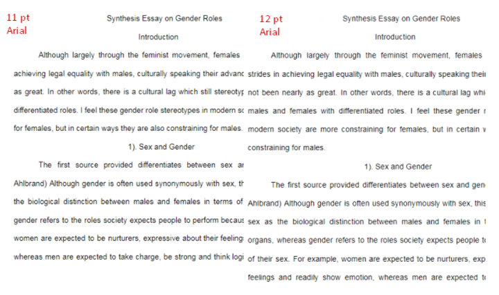 How To Make Your Essay Look Longer Without Looking Stupid : Period trick and plays with font to make essay look longer